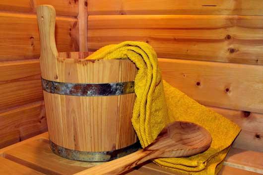 Saunagang und gesundes schwitzen